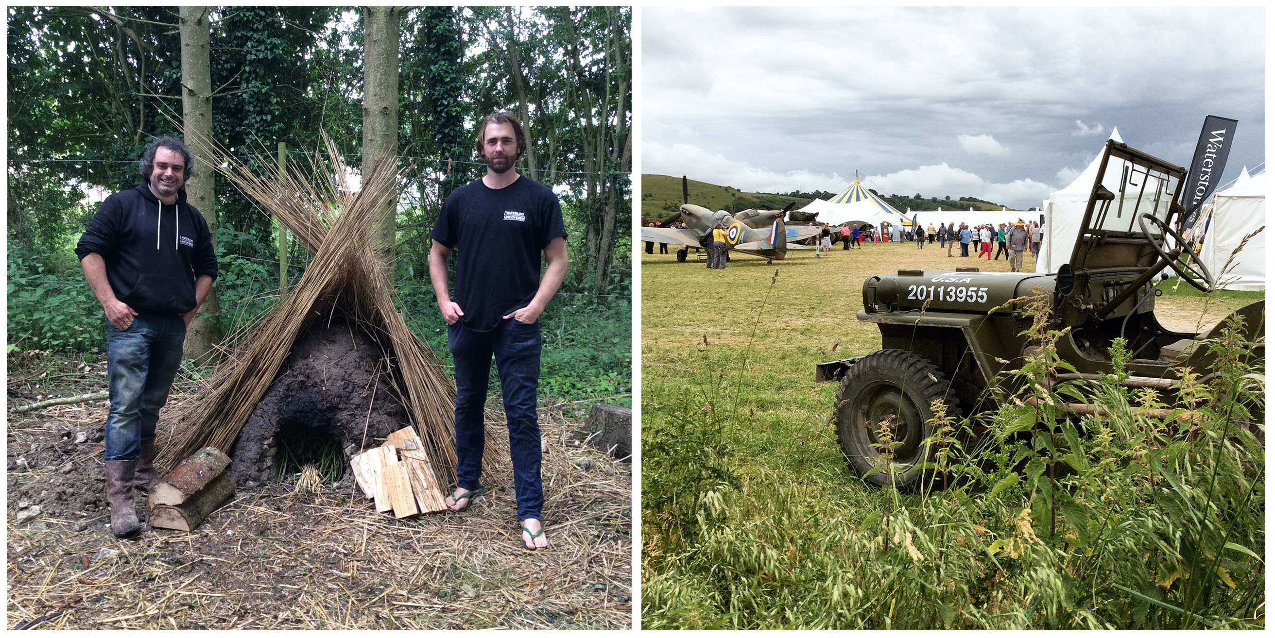 Mark Evans & Peter Ginn With Their Bread Oven  Built Over The Course Of The
