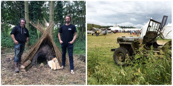 Mark Evans & Peter Ginn with their bread oven - built over the course of the week.